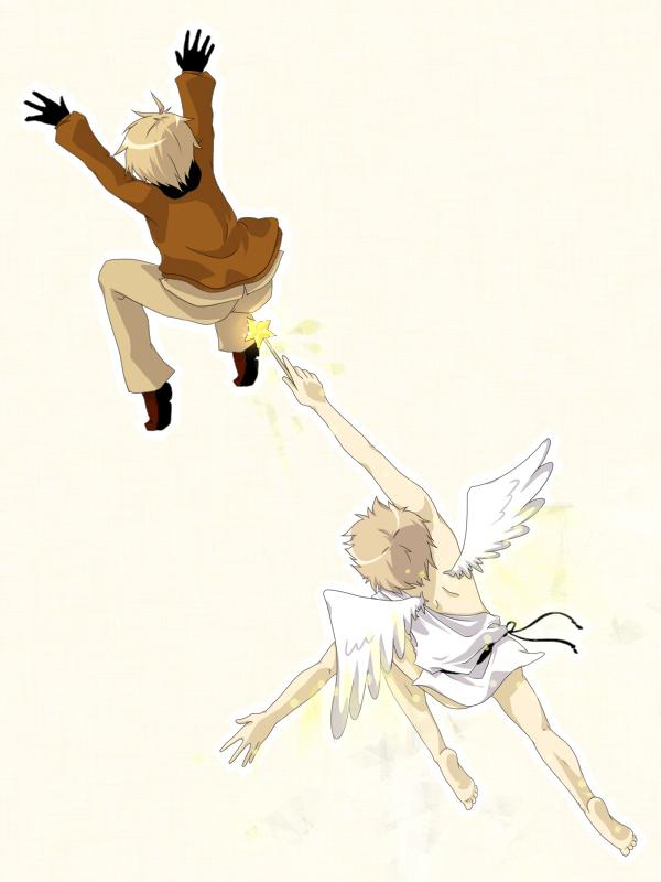 Tags: Anime, Axis Powers: Hetalia, United Kingdom, United States, Britannia Angel, Toga, Star Wand