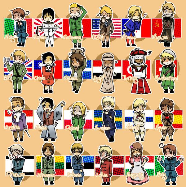 Tags: Anime, Axis Powers: Hetalia, Latvia, Turkey, Hungary, Austria, South Korea, Lithuania, Poland, France, United Kingdom, Russia, Finland