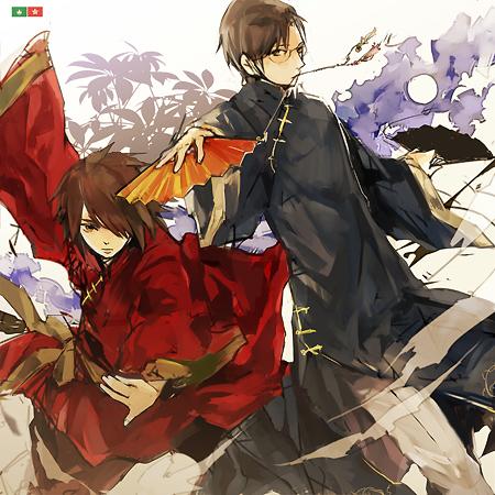 Tags: Anime, Hoka, Axis Powers: Hetalia, Macau, Hong Kong, Fanart, Pixiv