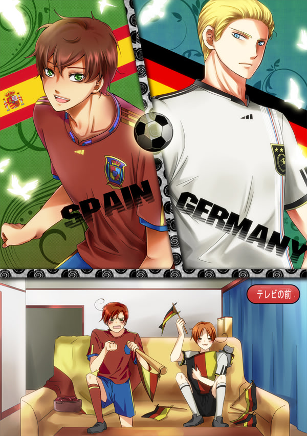 Tags: Anime, Pixiv Id 390902, Axis Powers: Hetalia, North Italy, South Italy, Spain, Germany, Cheering, Nekotalia, Mobile Wallpaper