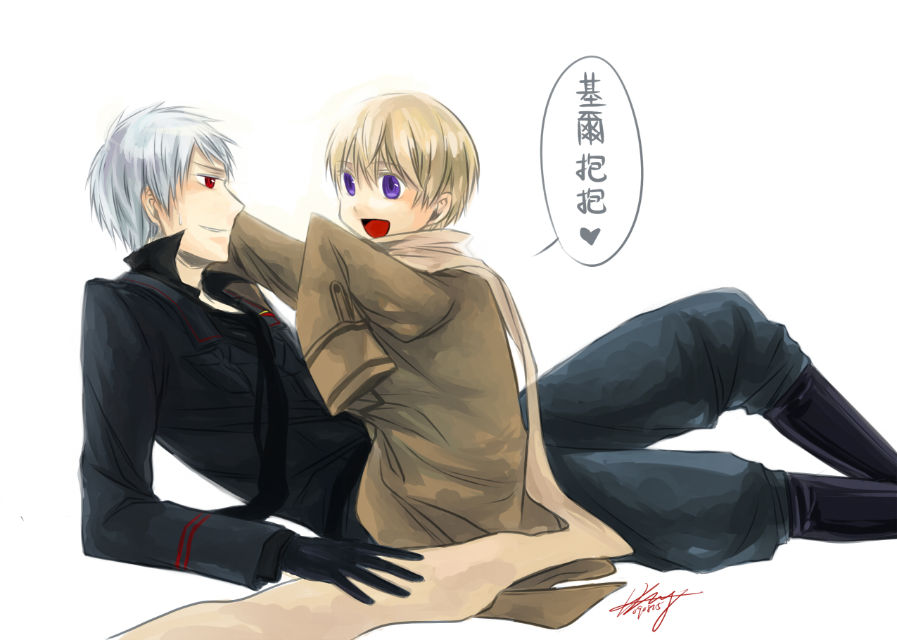 Hetalia Prussia and Russia