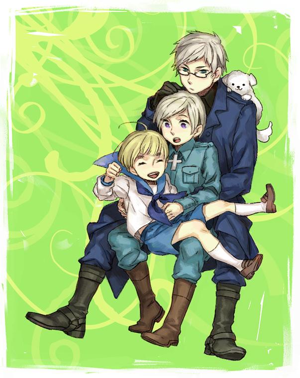 Tags: Anime, Ina (Pixiv292565), Axis Powers: Hetalia, Sweden, Sealand, Hanatamago, Finland, Swirls, Nordic Countries