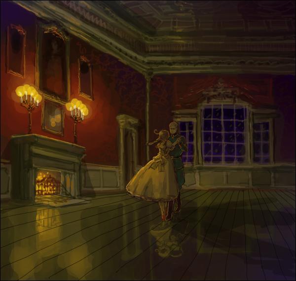 Tags: Anime, Bloody Moimoi Bus, Axis Powers: Hetalia, Germany, North Italy (Female), North Italy, Holy Roman Empire, Chibitalia, Candelabrum, Iron Cross, Different Reflection, Nyotalia, Fanart