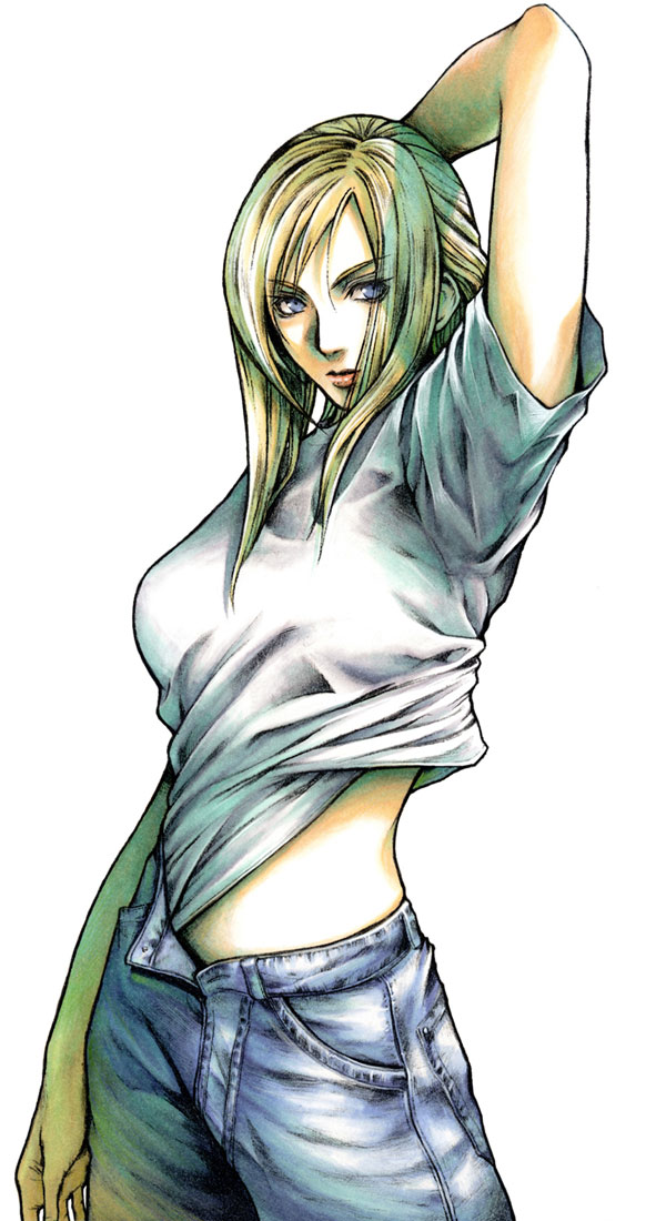 Tags: Anime, Nomura Tetsuya, Parasite Eve, Aya Brea, Mobile Wallpaper, Official Art