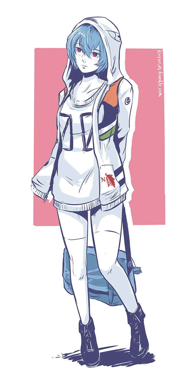 Ayanami rei rei ayanami neon genesis evangelion image tags anime koyoriin neon genesis evangelion ayanami rei holding bag sciox Gallery