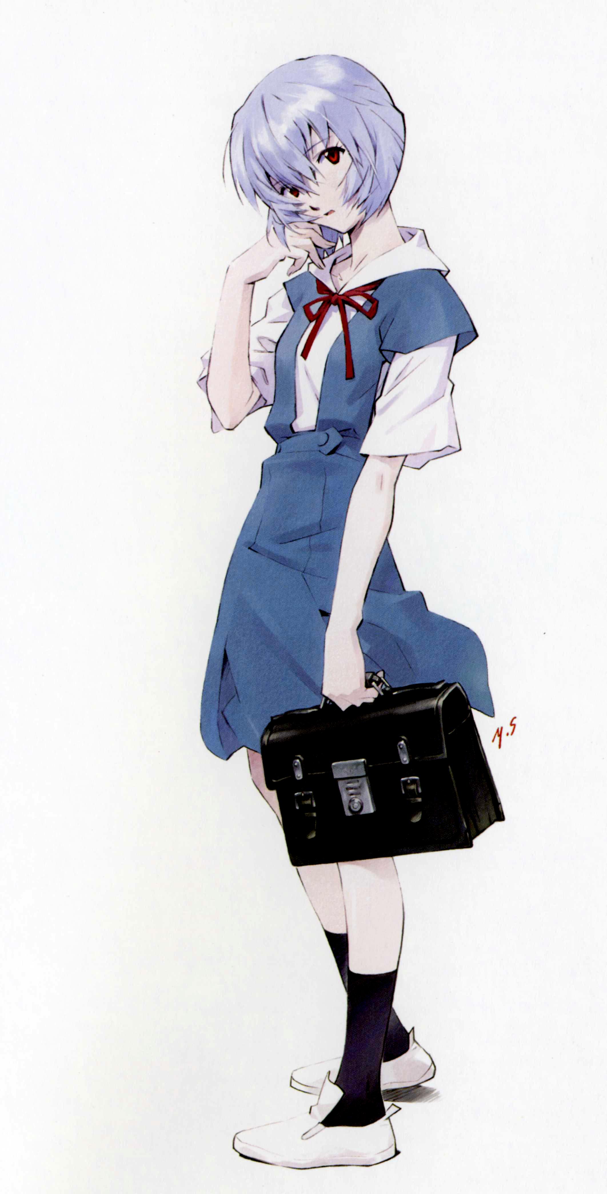 ... , Neon Genesis Evangelion, Carmine (Artbook), Ayanami Rei, School Bag