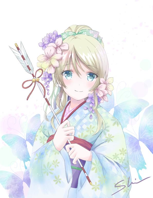 Tags: Anime, Pixiv Id 2863963, Love Live!, Ayase Eri, Happy 2018