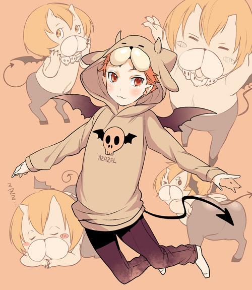 Tags: Anime, Roa Huduki, Yondemasuyo Azazel-san, Azazel, Pixiv, Fanart, Fanart From Pixiv