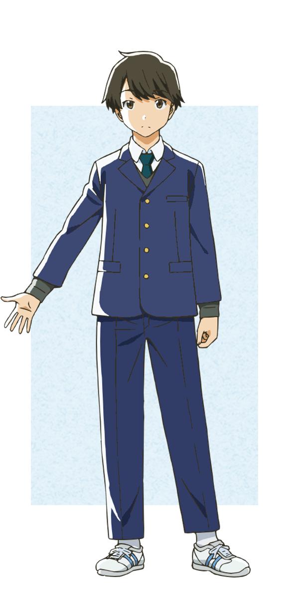 Tags: Anime, Morita Kazuaki, Feel (Studio), Tsuki ga Kirei, Azumi Kotarou, Cover Image, PNG Conversion, Official Art