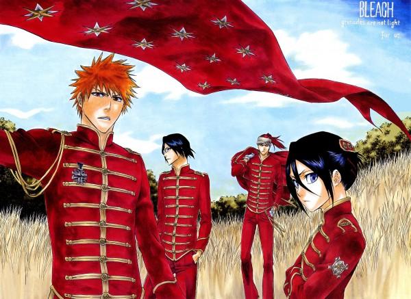 Tags: Anime, Tite Kubo, BLEACH Calendar 2008, BLEACH, Ishida Uryuu, Kuchiki Rukia, Abarai Renji