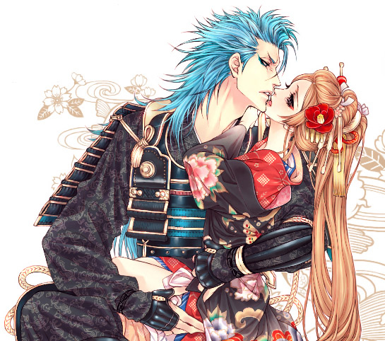 Tags: Anime, BLEACH, Grimmjow Jeagerjaques, Inoue Orihime, Artist Request