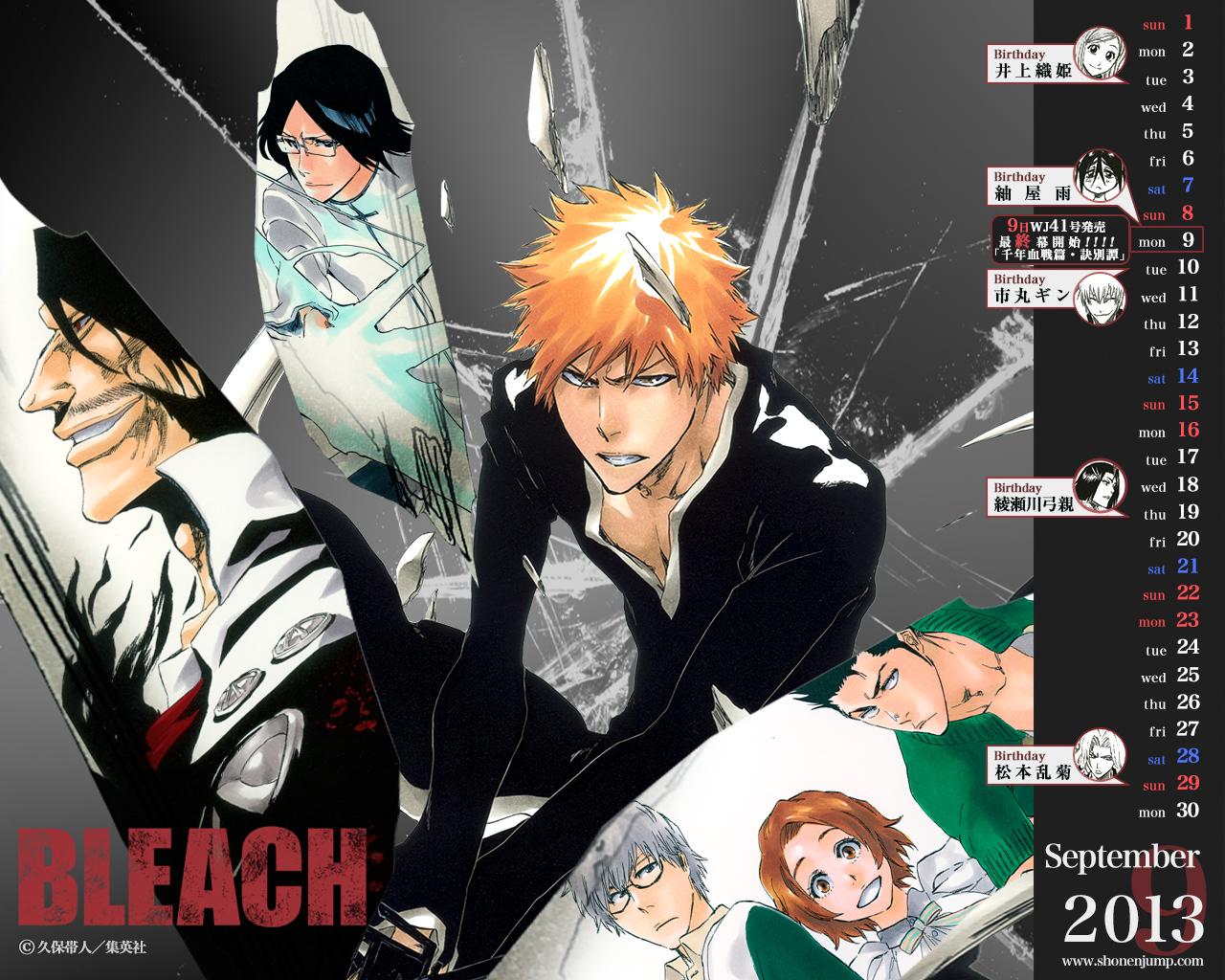 bleach calendar 2013 zerochan anime image board