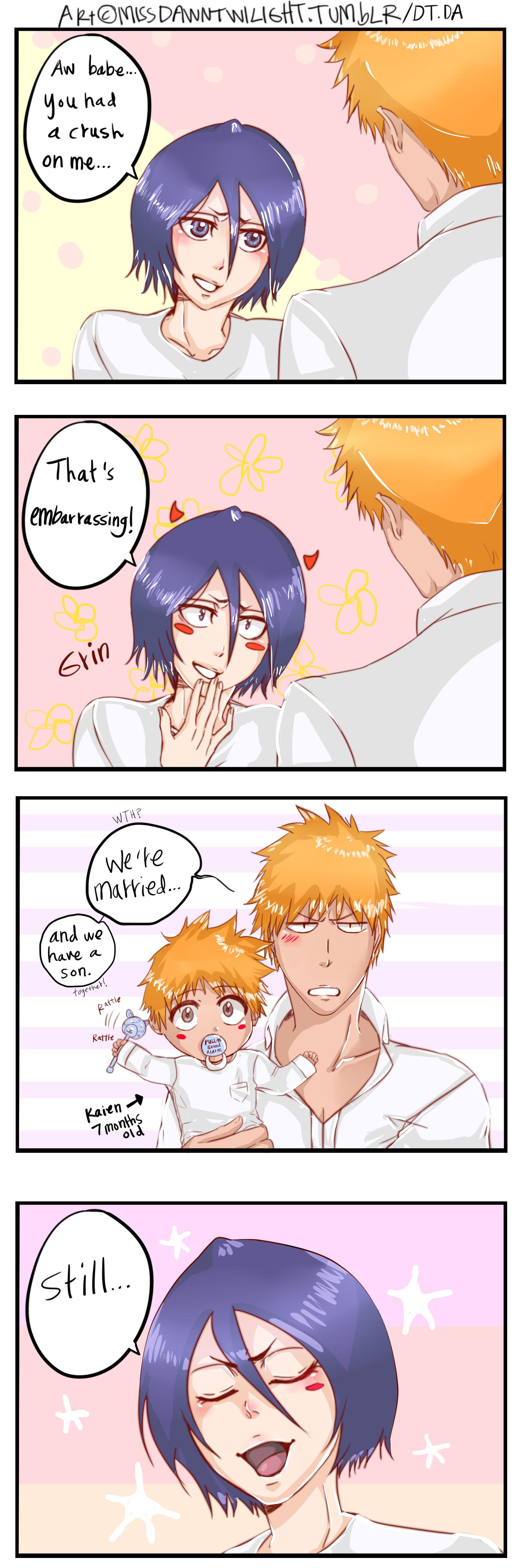 Ichigo And Rukia Baby BLEACH/#2062345 - Zero...