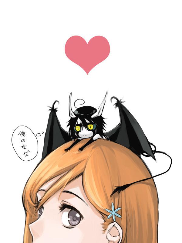 Tags: Anime, BLEACH, Ulquiorra Schiffer, Inoue Orihime, Face Cut Off, Artist Request, Espada