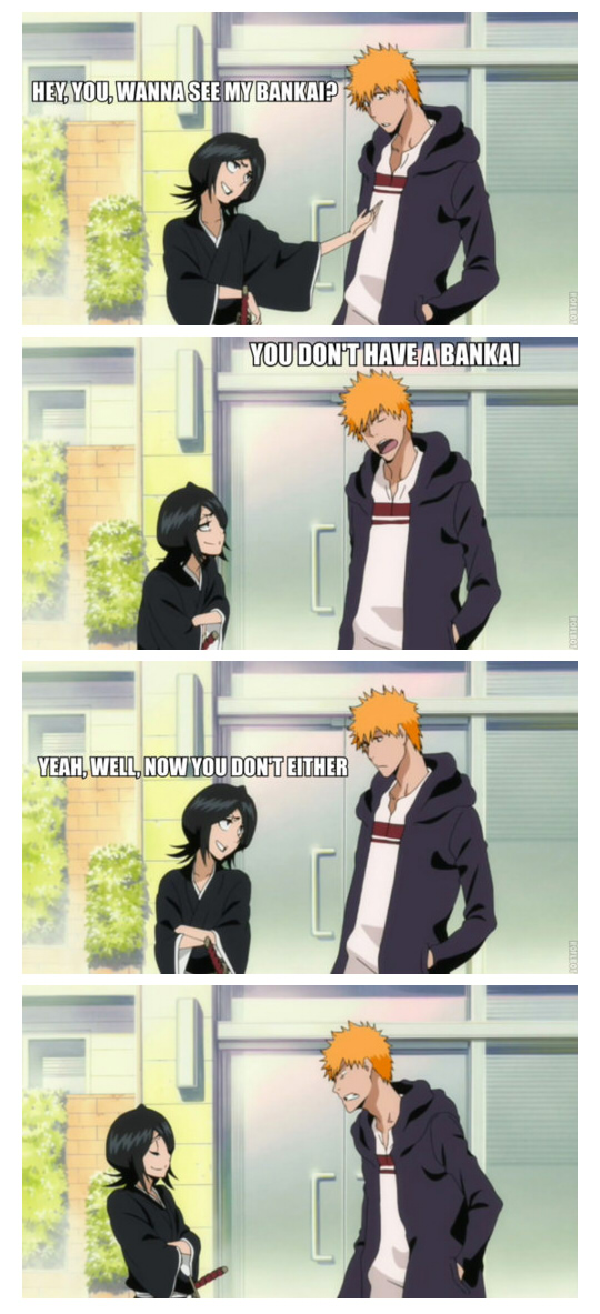 Tags: Anime, BLEACH, Kuchiki Rukia, Kurosaki Ichigo, Edited, Screenshot, Tumblr