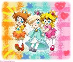 Baby_peach Baby_daisy Baby_rosalina Nintendo Super_mario_bros