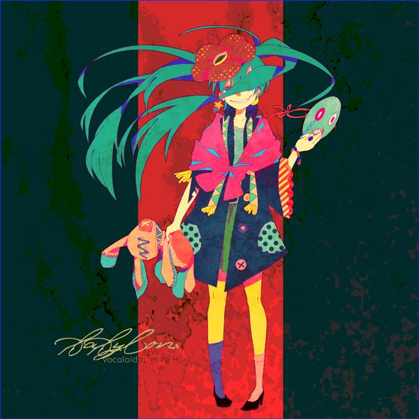Tags: Anime, Conoha, VOCALOID, Hatsune Miku, Shawl, Rafflesia (Flower), Pixiv, Babylon (Song), Fanart