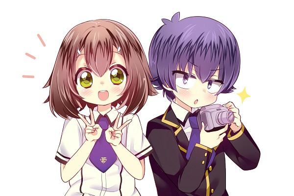 Tags: Anime, Pixiv Id 2517356, Baka to Test to Shokanju, Kinoshita Hideyoshi, Tsuchiya Kouta, Double V, Camera