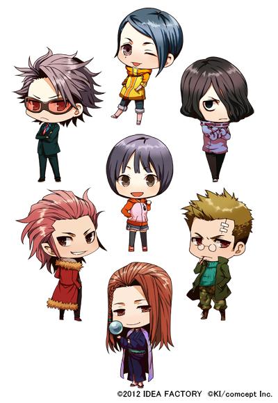 Tags: Anime, Inafune Keiji, IDEA FACTORY, Bakudan Handan, Wakasa Towa, Mitarashi Ryuusei, Shidou Subaru, Urabe Kimimaro, Inafune Saki, Shirabe Ayumu, Meoshi Kouta, Official Art