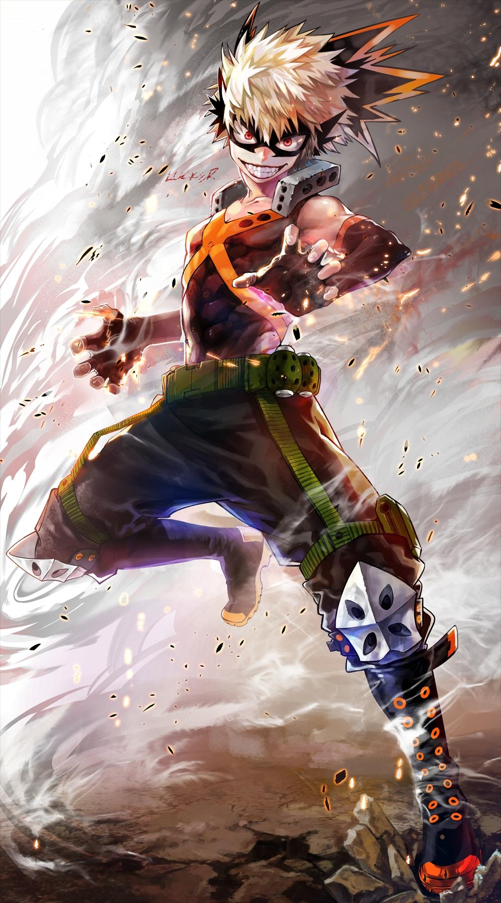 Bakugou Katsuki Boku No Hero Academia Mobile Wallpaper