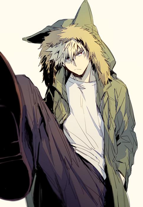 Tags: Anime, hegi, Boku no Hero Academia, Bakugou Katsuki, Parka, Fanart From Pixiv, Pixiv, Fanart