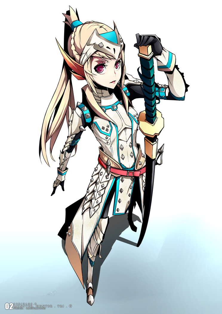 monster hunter female armor art