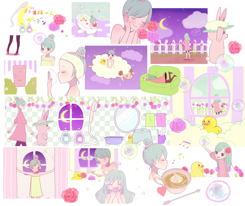 33 Fav Bathroom Garden. Bathroom Garden   Zerochan Anime Image Board