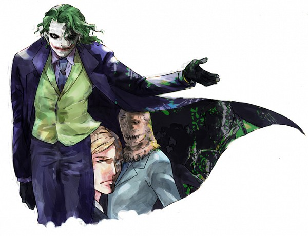 Harvey dent joker batman scarecrow batman two face make up