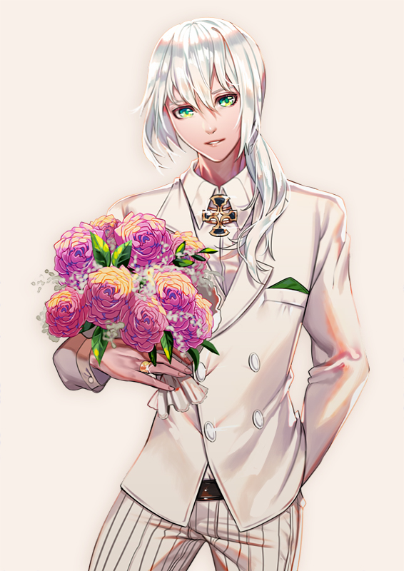 Tags: Anime, Shei99, Fate/Grand Order, Bedivere (Fate/stay night), Valentines, Bouquet, Gift