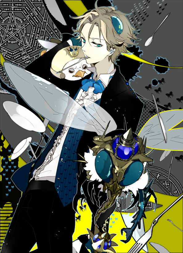 Tags: Anime, Suou, Yondemasuyo Azazel-san, Beelzebub (Yondemasuyo Azazel-san), Pixiv, Mobile Wallpaper, Fanart