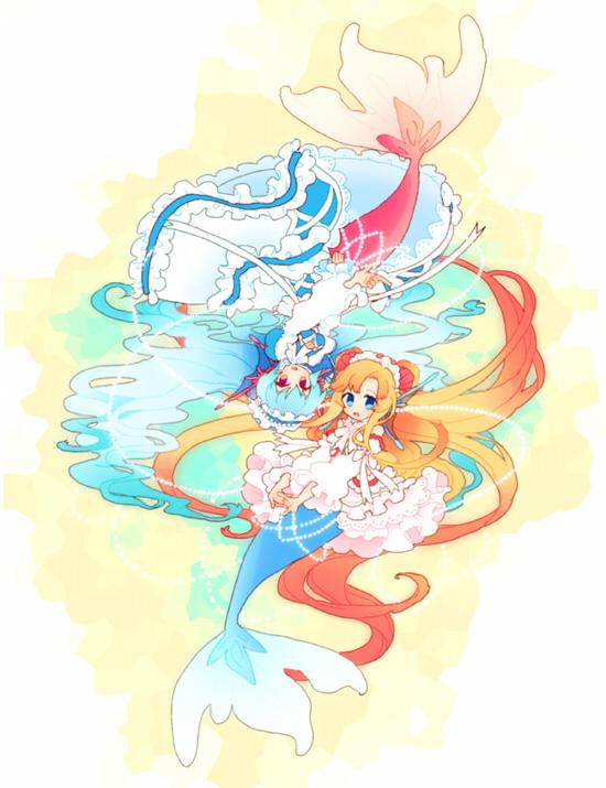 Tags: Anime, Pixiv Id 4156675, Cardfight!! Vanguard, Pearl Sisters Perla, Pearl Sisters Perle, Pixiv, Fanart, Vanguard Race: Mermaid, Vanguard Unit, Bermuda △