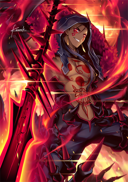 Tags: Anime, Kousaki Rui, Fate/Grand Order, Lancer (Fate/stay night), Berserker (Cú Chulainn Alter), Mobile Wallpaper