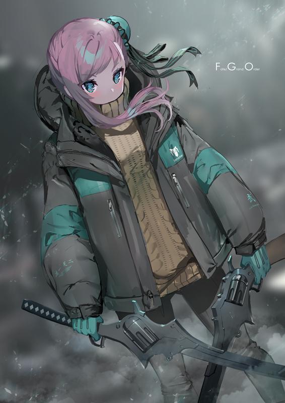 Tags: Anime, Yoshimoto (Dear Life), Fate/Grand Order, Saber (Miyamoto Musashi), Berserker (Miyamoto Musashi), Dutal Wield, Pixiv, Fanart