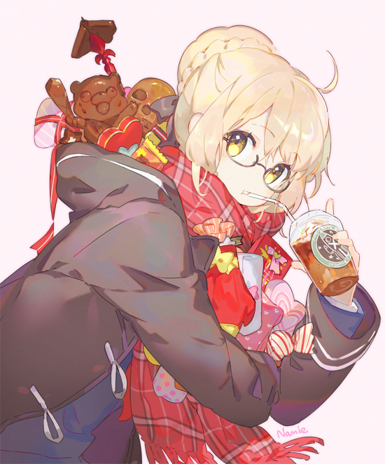 Tags: Anime, Namie-kun, Fate/Grand Order, Berserker (Mysterious Heroine X Alter), Saber (Fate/stay night), Heart Box, Bonbon, Chocolate Box, Twitter, Fanart