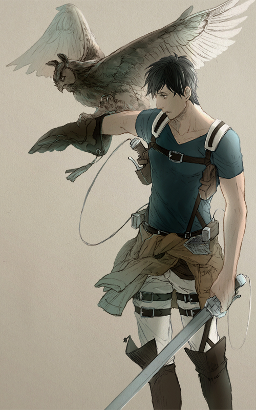 Tags: Anime, Pixiv Id 3212748, Attack on Titan, Bertholdt Fubar, Jacket Around Waist, Mobile Wallpaper, PNG Conversion, Pixiv