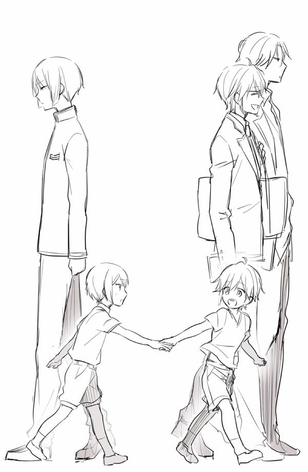 Tags: Anime, kzmt, Binan Koukou Chikyuu Bouei-bu Love!, Kusatsu Kinshirou, Kinugawa Atsushi, Yufuin En, Pixiv, Sketch, Mobile Wallpaper, Cute High Earth Defense Club Love!