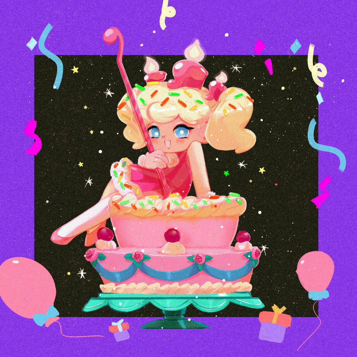 Wondrous Birthday Cake Cookie Cookie Run Ovenbreak Image 2747438 Funny Birthday Cards Online Unhofree Goldxyz
