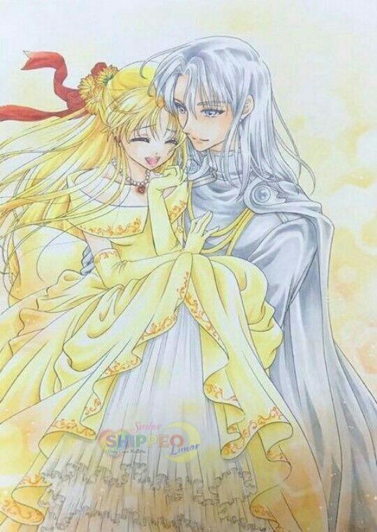 Tags: Anime, Bishoujo Senshi Sailor Moon, Princess Venus, Kunzite, Aino Minako, Traditional Media, Pretty Guardian Sailor Moon