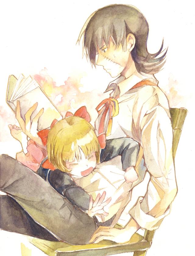 Tags: Anime, Hibiki Bagawa, Black Jack, Pinoko, Black Jack (Character), Pixiv, Fanart, Watercolor, Traditional Media