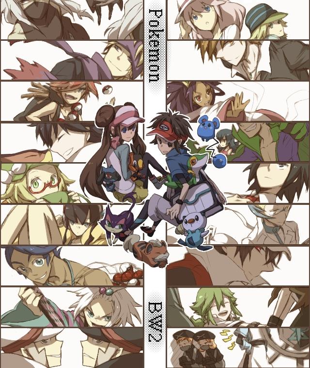 Tags: Anime, *Mihaya, Black and White 2, Pokémon Black & White, Pokémon, Snivy, Ruri (Pokémon), Natsume (Pokémon), Kudari, Homika, Plasma-dan Shitappa (Male), Cheren (Pokémon), Oshawott