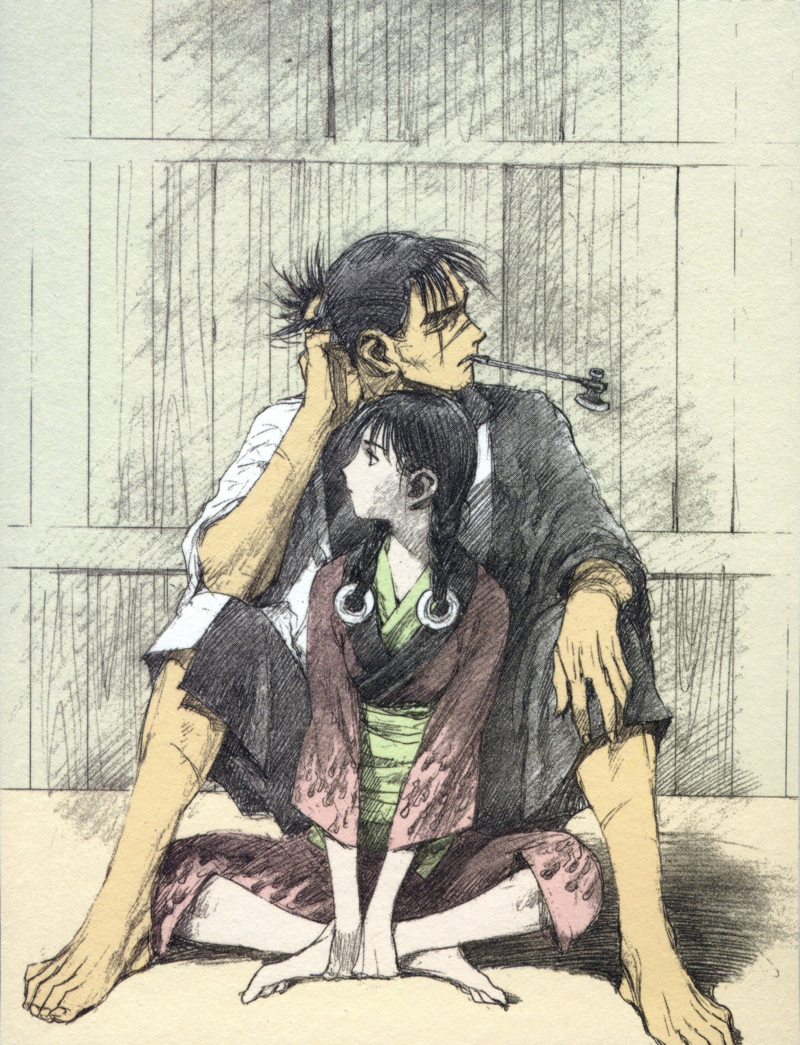 Blade of the immortal zerochan anime image board.