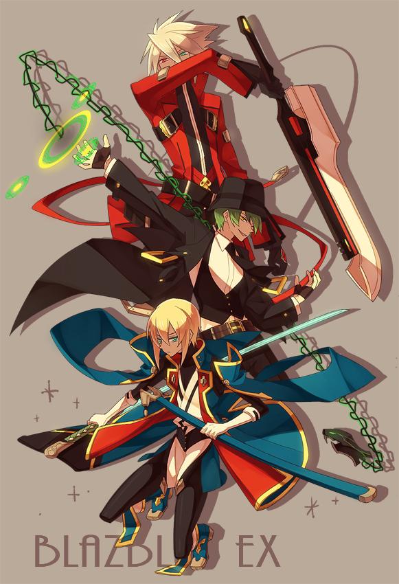 Tags: Anime, Ryolove, BlazBlue, Kisaragi Jin, Hazama, Ragna the Bloodedge, Pixiv, Fanart From Pixiv, Fanart, Mobile Wallpaper