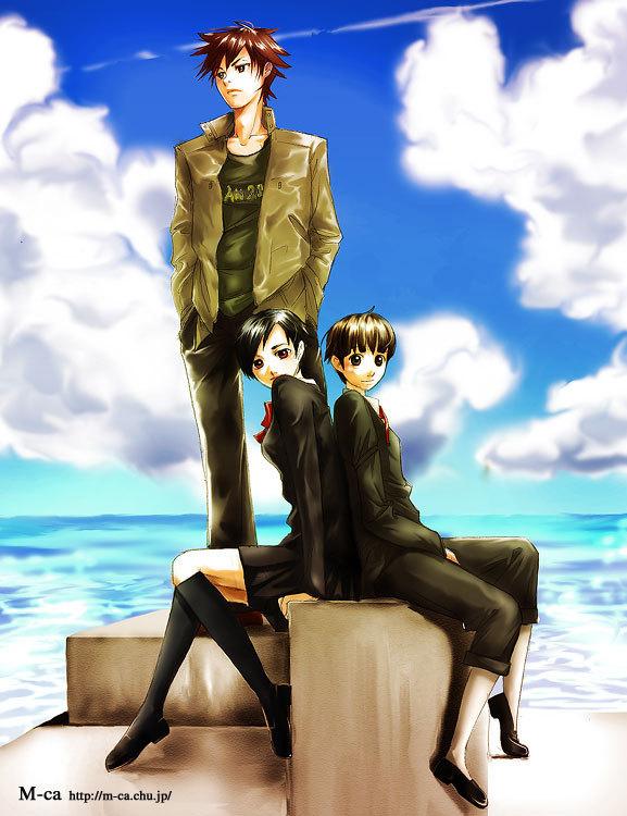 Tags: Anime, Blood+, Otonashi Saya, Miyagusuku Riku, Kai Otonashi