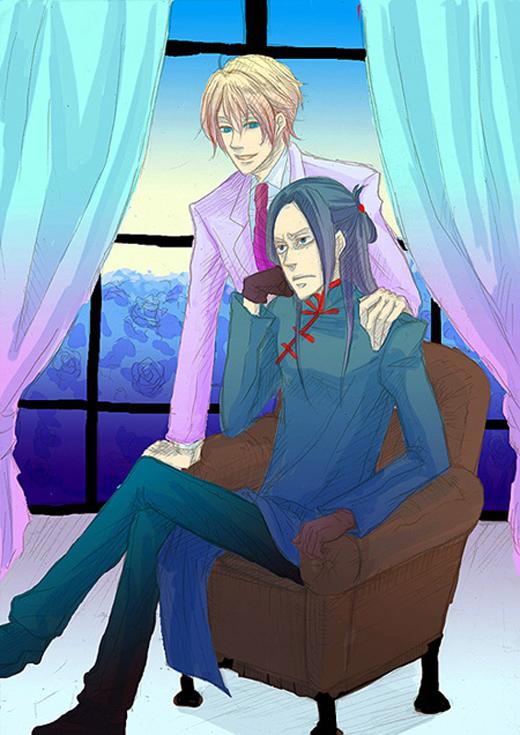 Tags: Anime, Blood+, Solomon Goldsmith, Fei-Ong Karl, Blue Flower