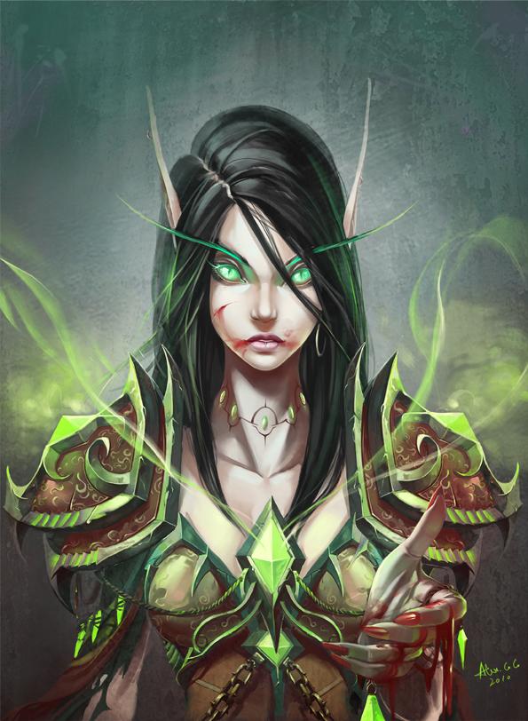 Tags: Anime, Warcraft, Blood Elf, Mage (Warcraft), Artist Request, Fanart