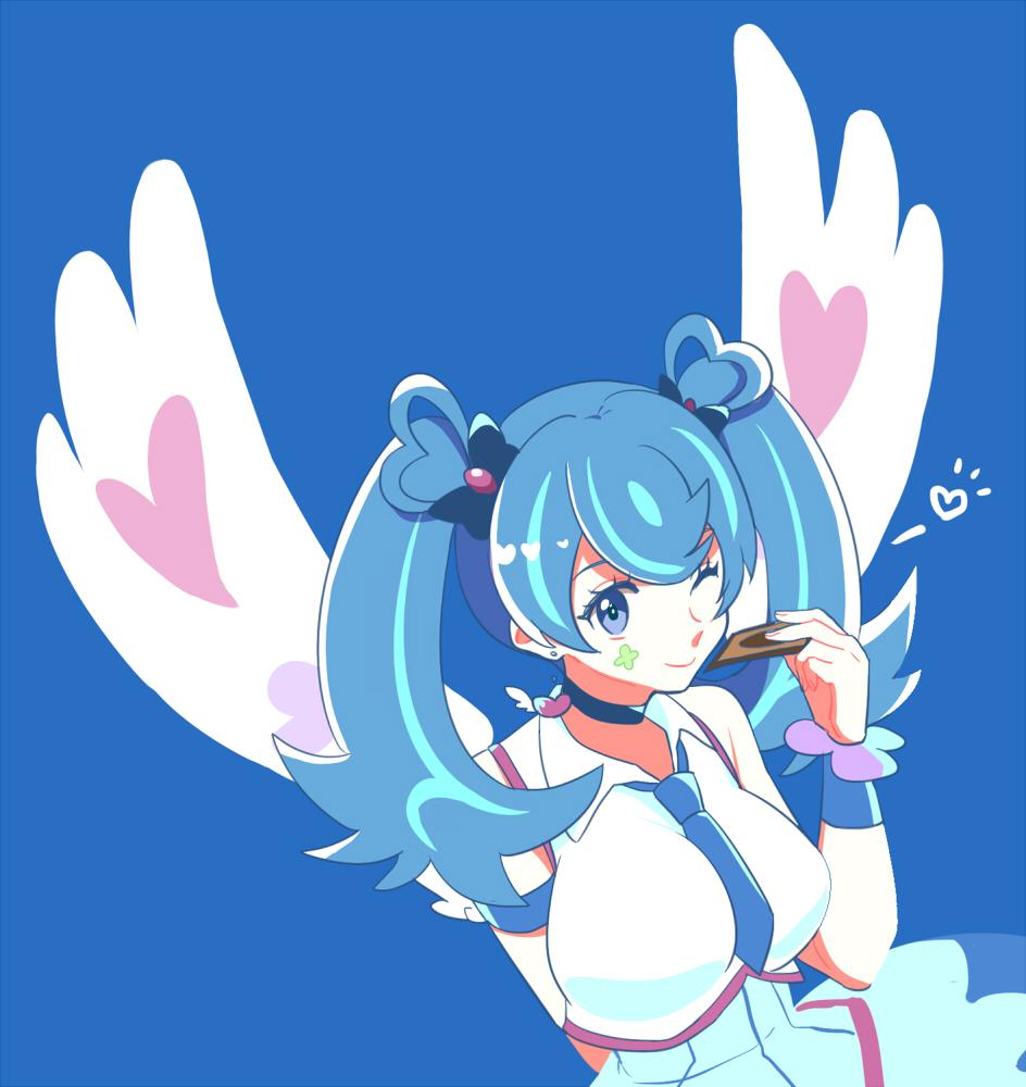 Blue dress zerochan link