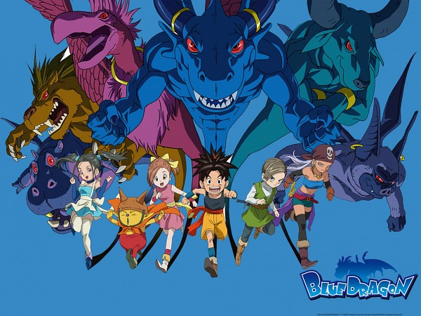Tags: Anime, Toriyama Akira, Blue Dragon - Tenkai No Shichi Ryu, Shu (Blue Dragon), Bouquet (Blue Dragon), Zola, Jiro (Blue Dragon)