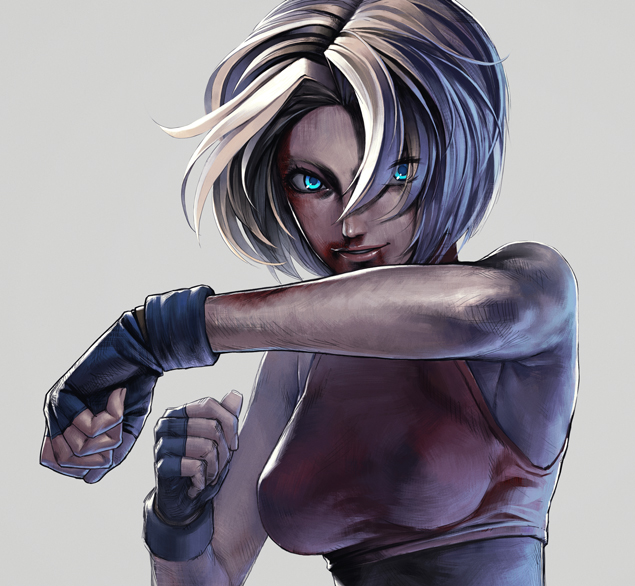 Tags: Anime, Iwai Ryo, King of Fighters, Fatal Fury, Blue Mary, Bruise, Pixiv