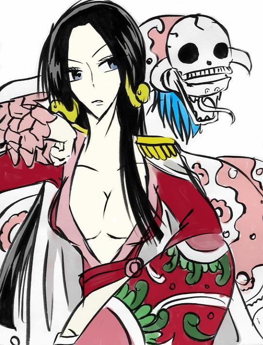 Tags: Anime, ONE PIECE, Boa Hancock, Salome (ONE PIECE), Shichibukai