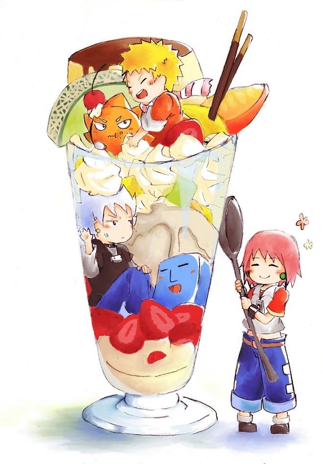 Tags: Anime, Pixiv Id 3124221, Bobobo-bo Bo-bobo, Tokoro Tennosuke, Don Patch, Heppokkomaru, Beauty (Bobobo-bo Bo-bobo), Hatenkou (Bobobo-bo Bo-bobo), Parfait, Pudding